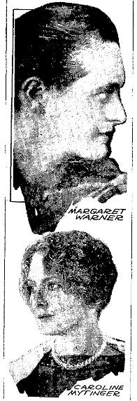 portraits of Margaret Warner and Caroline Mytinger, Plain Dealer newspaper article 10 February 1930