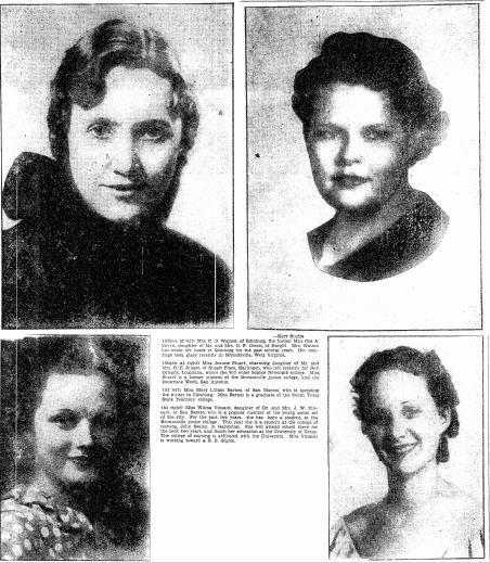 an article about women attending college, Heraldo de Brownsville newspaper article 11 October 1936
