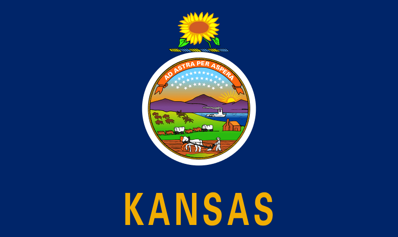 Illustration: Kansas state flag