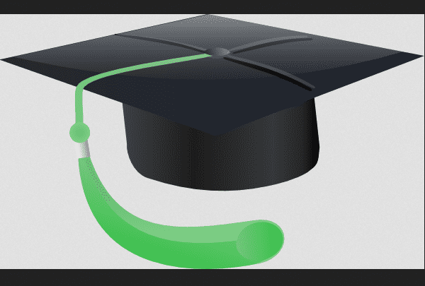 an illustration of a student's graduation cap
