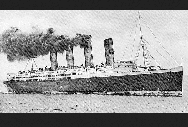 Photo: RMS Lusitania, 1907. Source: Wikimedia Commons.