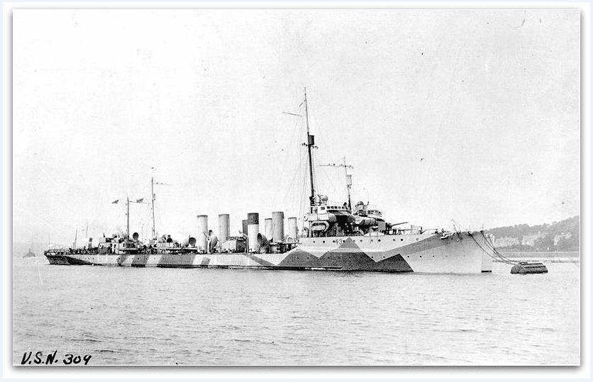 Photo: USS Cassin (DD-43), c. 1918