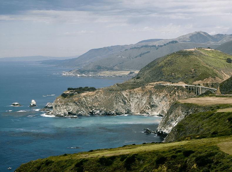 Photo: California's Big Sur coast, including the Bixby bridge