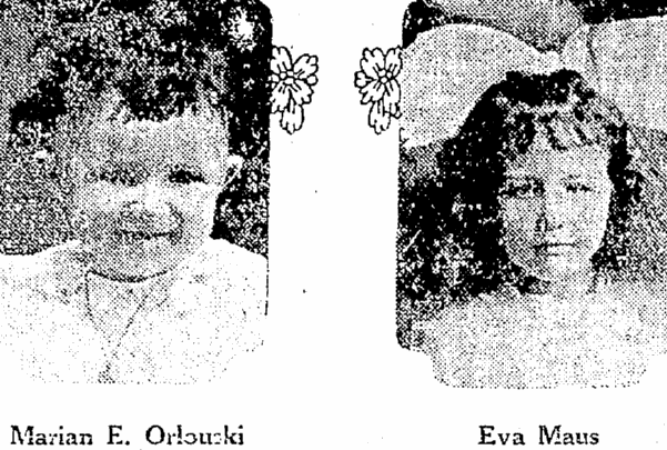 Photos of Marian E. Orlouski and Eva Maus. Source: Trenton Evening Times (Trenton, New Jersey), 27 October 1922, page 14