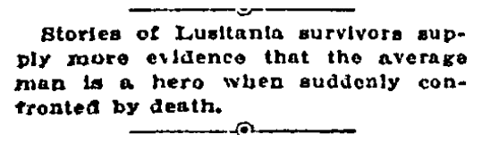article about Germany sinking the passenger ship Lusitania, Tulsa World newspaper article 29 May 1915