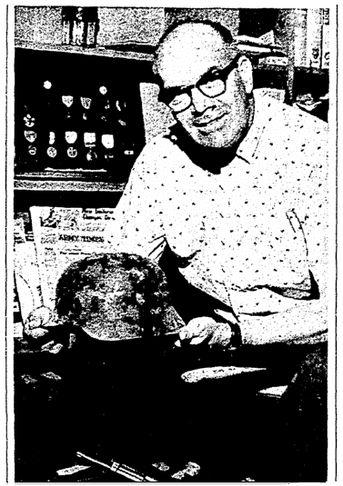 A photo of D-Day veteran Mac Palmer, Daily Nonpareil newspaper article 24 May 1964