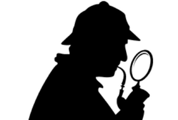 Illustration: a close-up of Sherlock Holmes