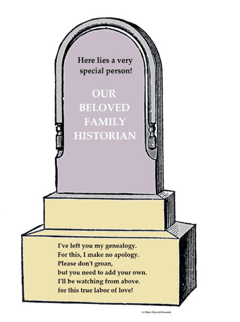 An illustration of a tombstone