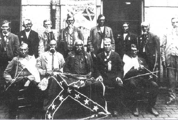 Photo: Confederate Cherokees' reunion in New Orleans, Louisiana, in 1903. Credit: Wikimedia Commons.