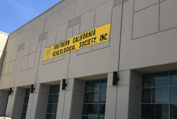 Photo: Southern California Genealogical Society, Jamboree 2016 sign. Credit: Gena Philibert-Ortega.