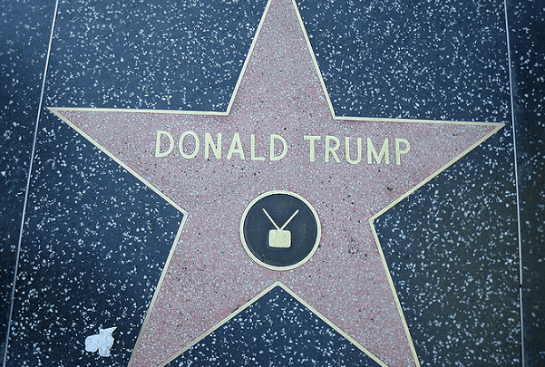 Photo: Donald Trump's star on the Hollywood Walk of Fame. Credit: Neelix; Wikimedia Commons.