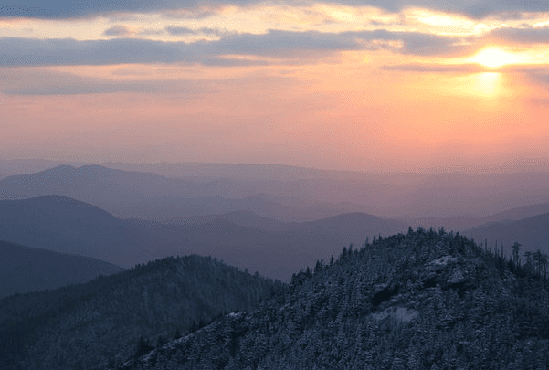 Photo: Mount Le Conte, in the Great Smoky Mountains of Sevier County, Tennessee. Credit: Aviator31; Wikimedia Commons.