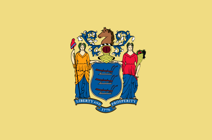 Illustration: New Jersey state flag