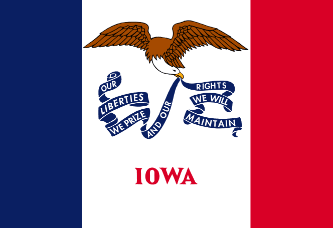 Illustration: Iowa state flag