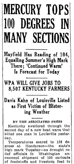 An article about the WPA helping farmers, Lexington Herald newspaper article 19 August 1936