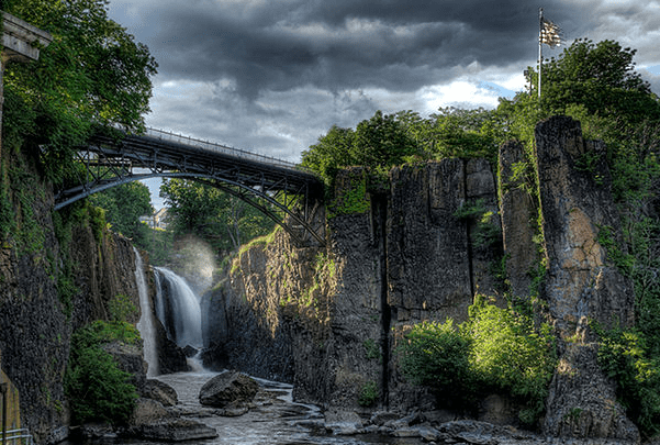 Photo: Great Falls of the Passaic River in Paterson, New Jersey. Credit: Merle9999; Wikimedia Commons.