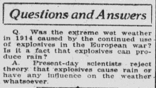 "A ""Questions and Answers"" column, Anaconda Standard newspaper article 1 May 1916"