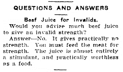 "A ""Questions and Answers"" column, Colorado Springs Gazette newspaper article 10 March 1916"