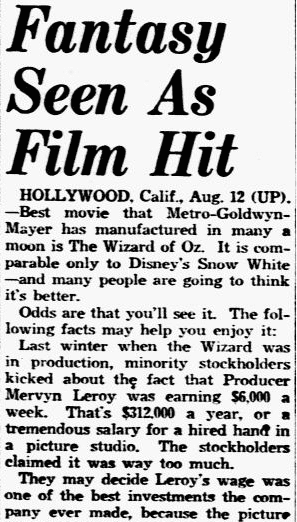 'The Wizard of Oz' Premieres