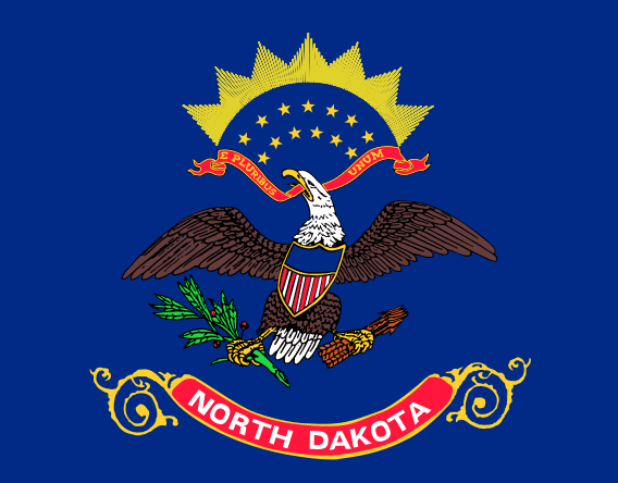 Illustration: North Dakota state flag
