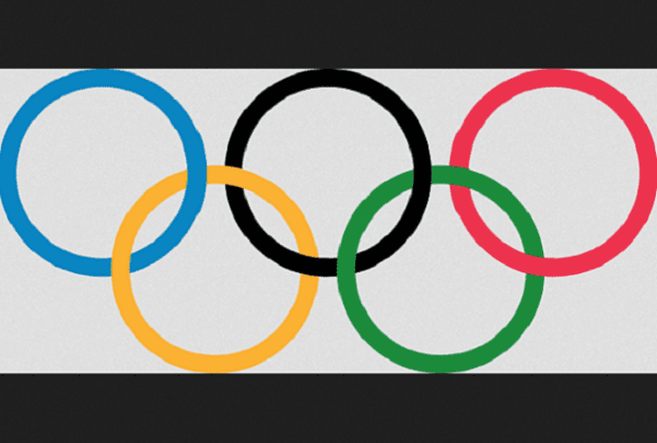 Illustration: Olympic rings. Credit: Pierre de Coubertin; Wikimedia Commons.