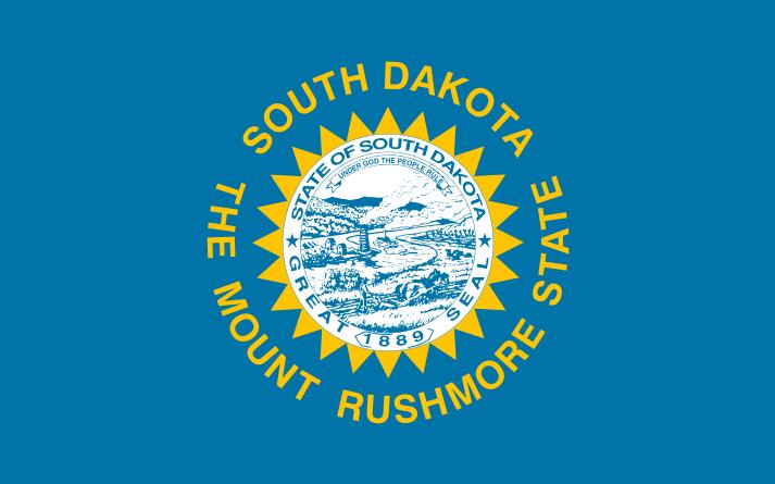 Illustration: South Dakota state flag