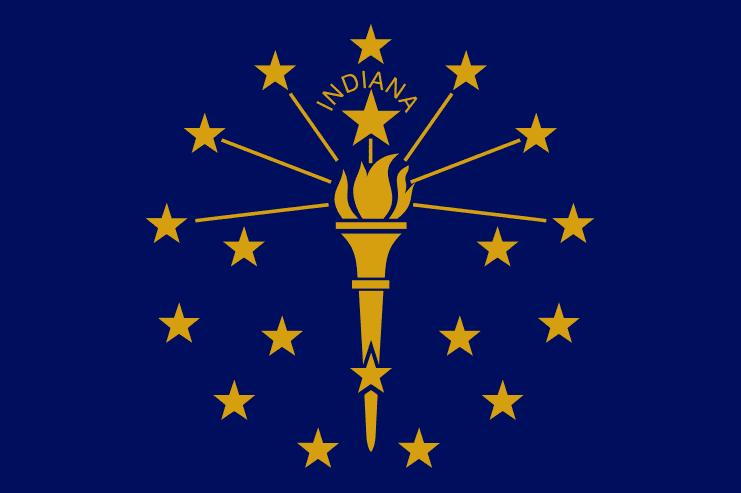 Illustration: Indiana state flag