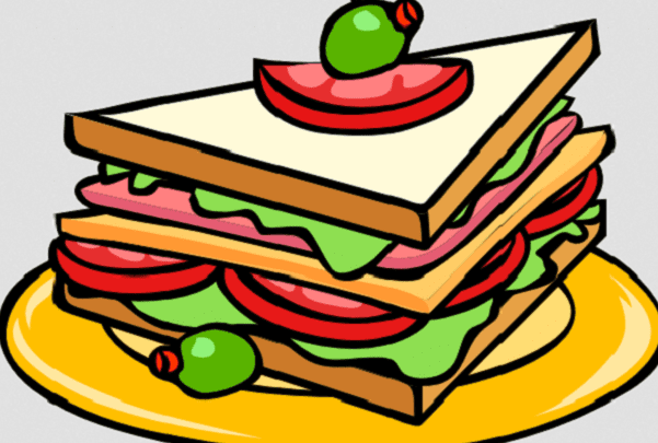 An illustration of a sandwich