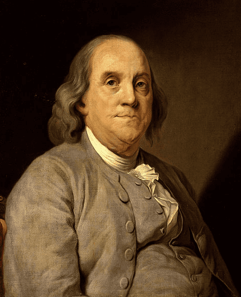 "Painting: ""Portrait of Benjamin Franklin,"" by Joseph Duplessis, c. 1785"