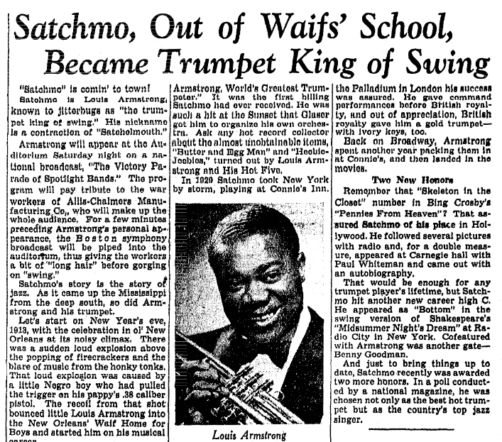 5 paragraph essay on louis armstrong