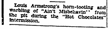 """An article about jazz trumpeter Louis """"Satchmo"""" Armstrong, Richmond Times Dispatch newspaper article 4 December 1929"""