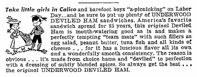 An article about deviled ham, Seattle Daily Times newspaper article 3 September 1950