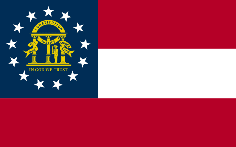 Illustration: Georgia state flag