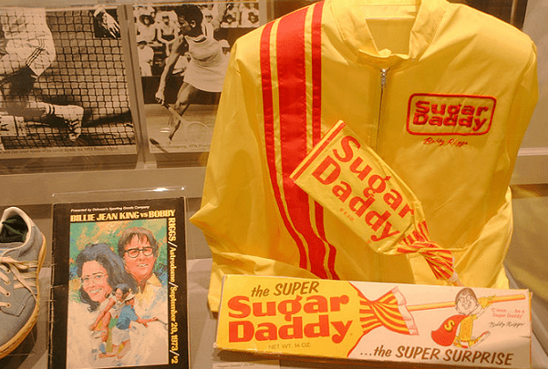 "Photo: items from the ""Battle of the Sexes"" tennis match featuring Billie Jean King and Bobby Riggs at the Astrodome in Houston, Texas. Credit: dbking; Wikimedia Commons."