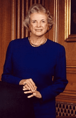 Photo: Sandra Day O'Connor, first female Associate Justice of the Supreme Court of the United States