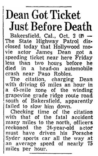Rebel Movie Star James Dean's Fatal Car Crash