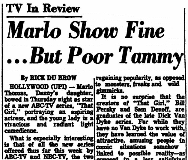 "A review of ""Star Trek,"" Trenton Evening Times newspaper article 9 September 1966"