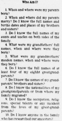An article about genealogy, Dallas Morning News newspaper article 25 December 1977