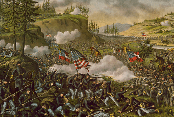 Illustration: Civil War Battle of Chickamauga. Credit: Kurz & Allison; U.S. Library of Congress, Prints and Photographs Division.