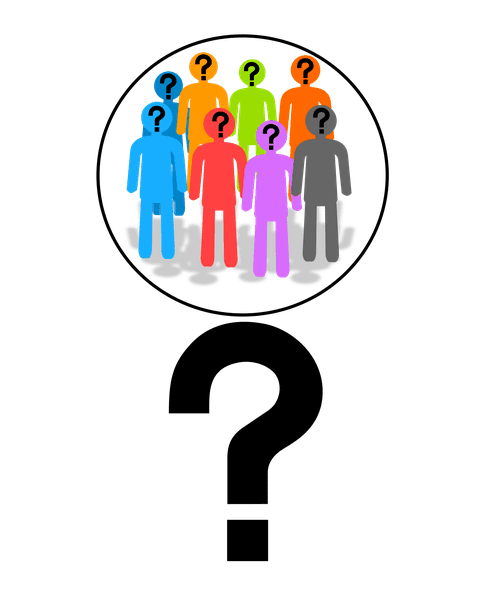 Illustration: a researcher asking questions about family history