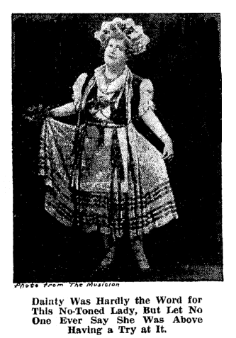A photo of Florence Foster Jenkins, Oregonian newspaper article 28 January 1945