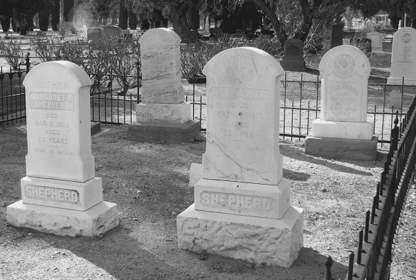 A photo of a cemetery in eastern California