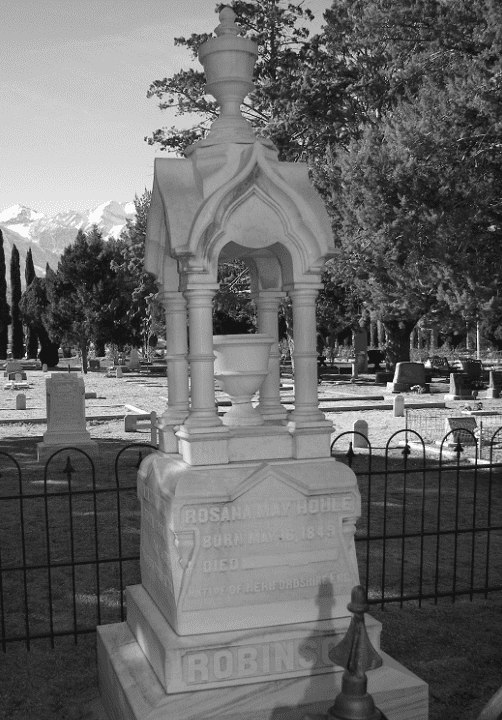 Photo: a tombstone