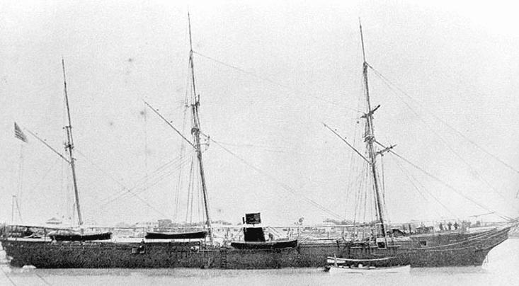 Photo: USS Wachusett, 1867
