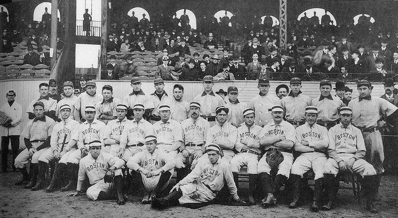 Photo: Boston Americans and Pittsburgh Pirates, Huntington Avenue Grounds, Boston, 1903 World Series, 13 October 1903