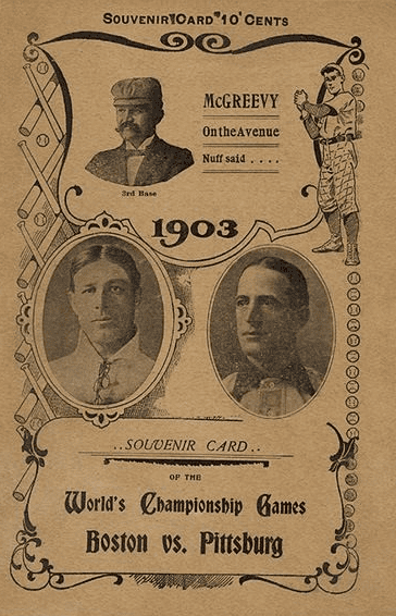 Photo: a program from the 1903 World Series