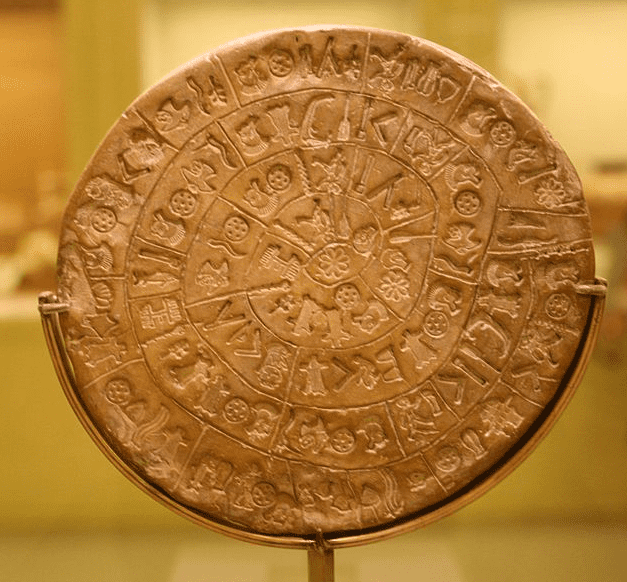Photo: Phaistos Disc, side A