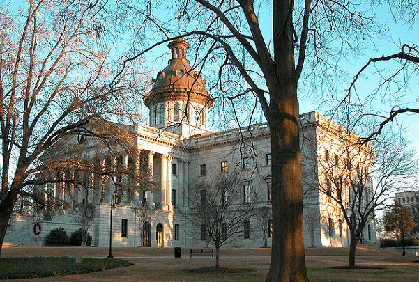 Photo: South Carolina State House, Columbia, South Carolina. Credit: Wikimedia Commons.