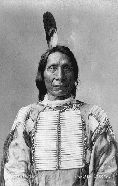 Photo: Red Cloud, taken by Charles Milton Bell while Red Cloud was on a delegation in 1880
