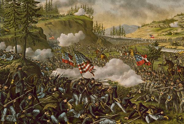 Illustration: Civil War Battle of Chickamauga. Credit: Kurz & Allison; U.S. Library of Congress, Prints and Photographs Division.